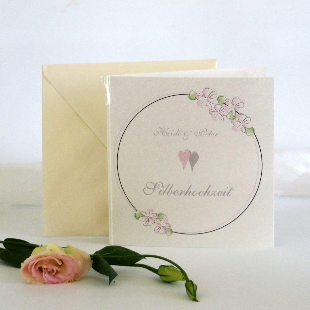 Blumenkranz rosa Silberhochzeit