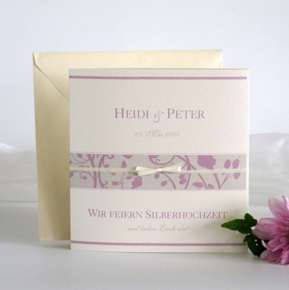 Florales Design rosa Silberhochzeit