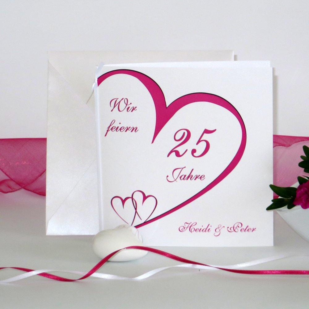 Herzschlag pink Silberhochzeit