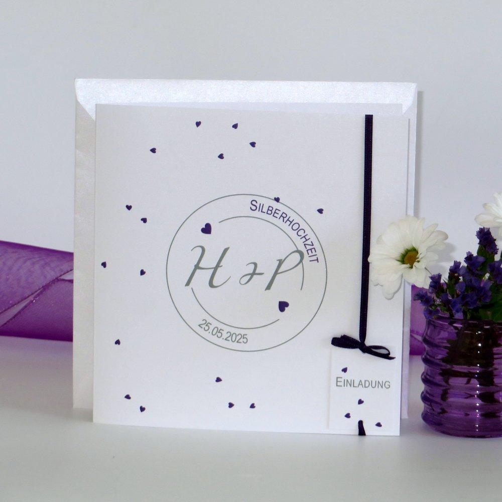 Konfetti lila Silberhochzeit