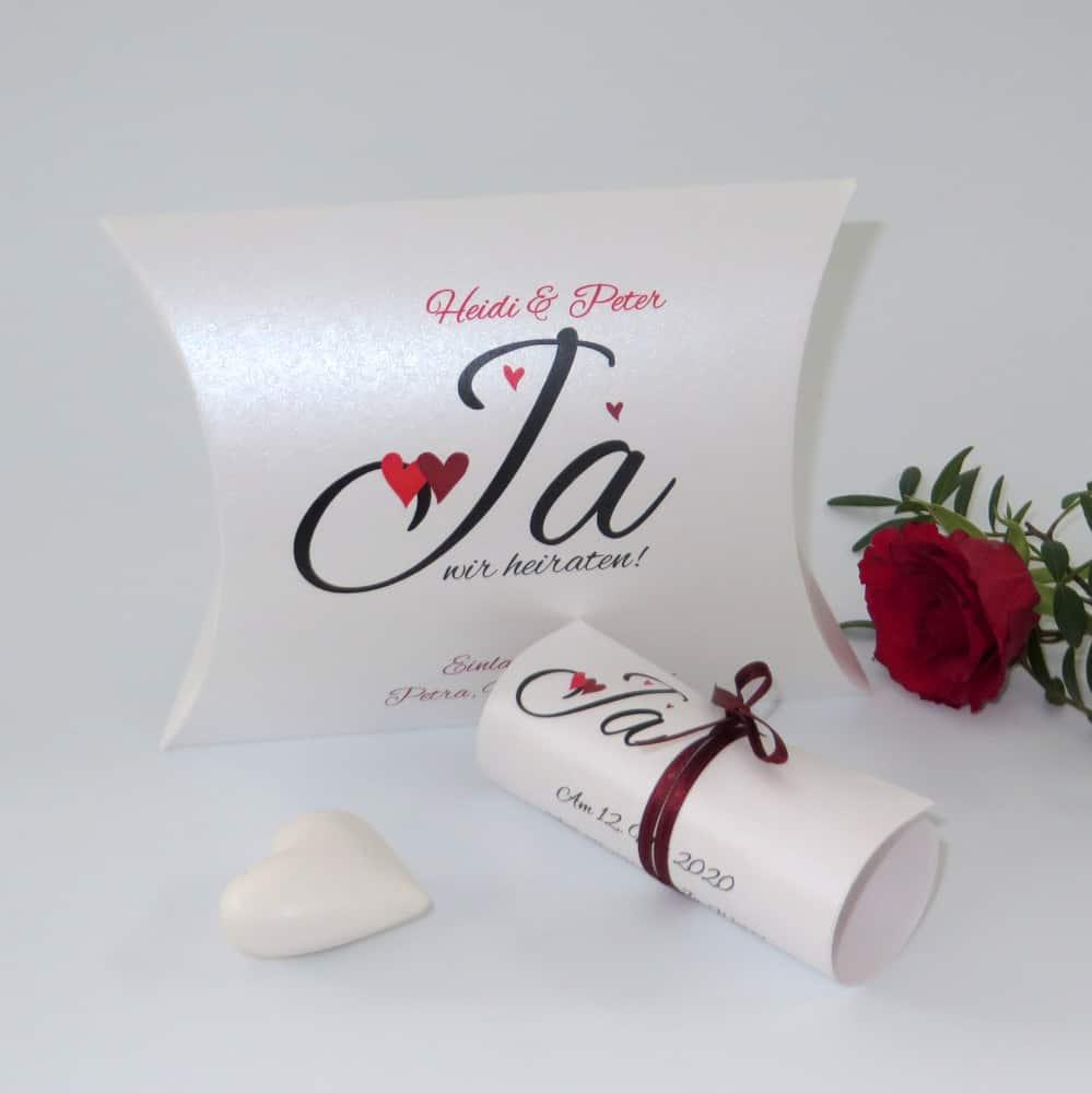 Laden Sie mit unseren Einladungsboxen individuell und außergewöhnlich zu Ihrer Hochzeit ein.