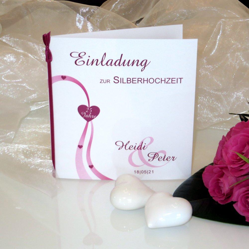 Liebesweg pink Silberhochzeit