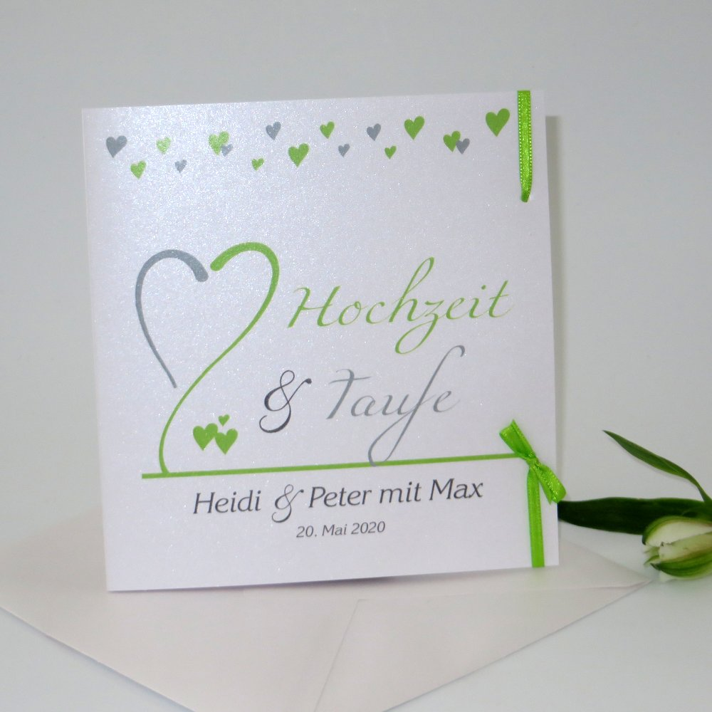 Herzblume grün - Traufe