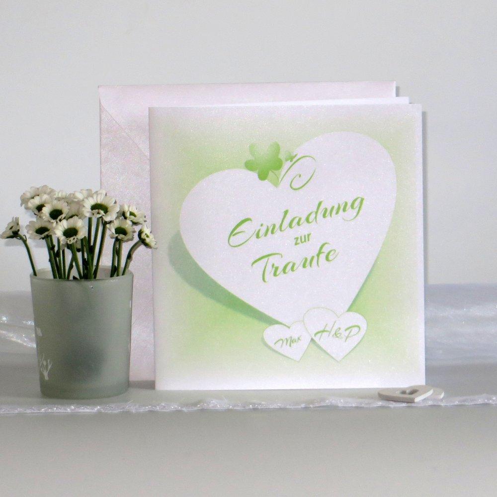 Herzkarte grün Traufe
