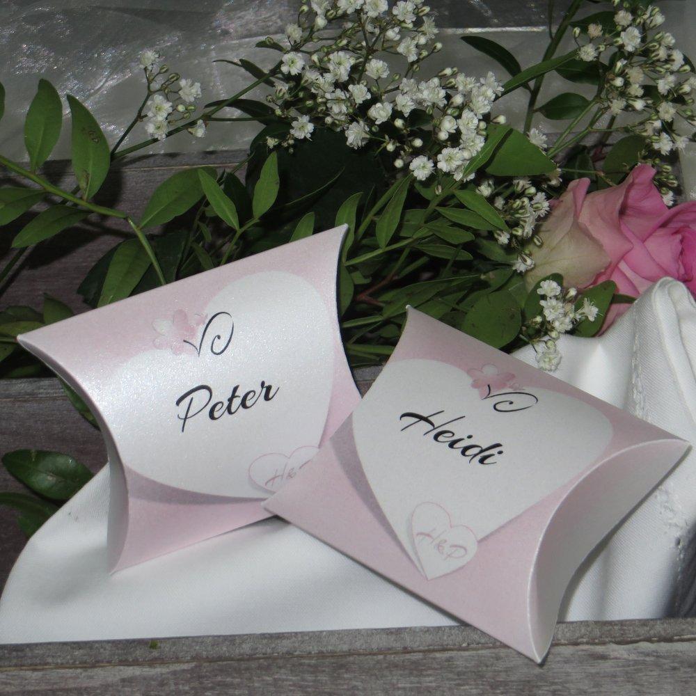 Herzkarte rosa
