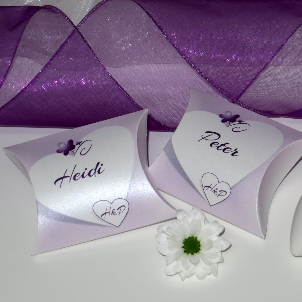 Herzkarte lila & flieder