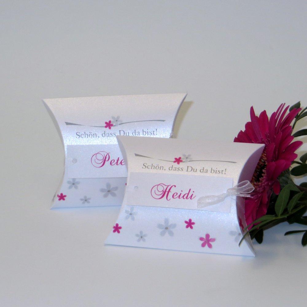 Blumenmeer pink & grau