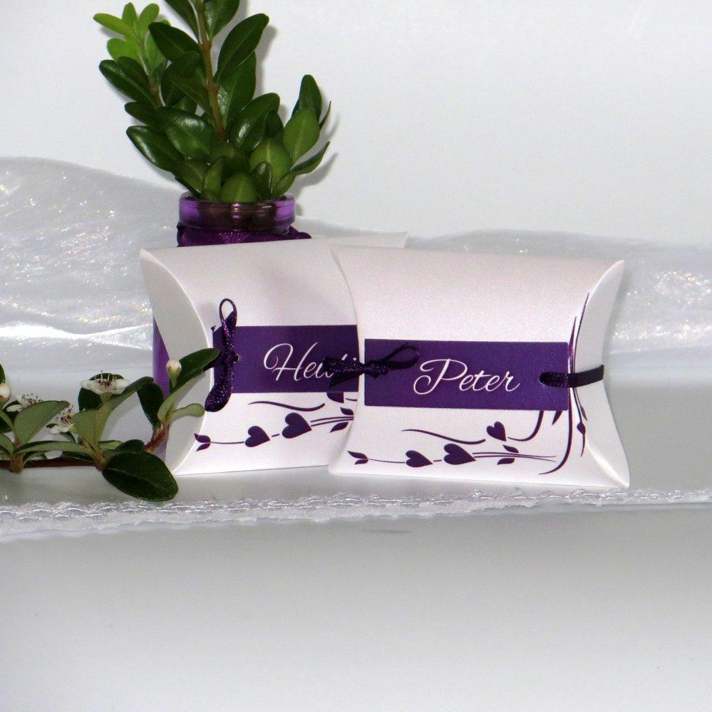 Hochzeitsherz lila