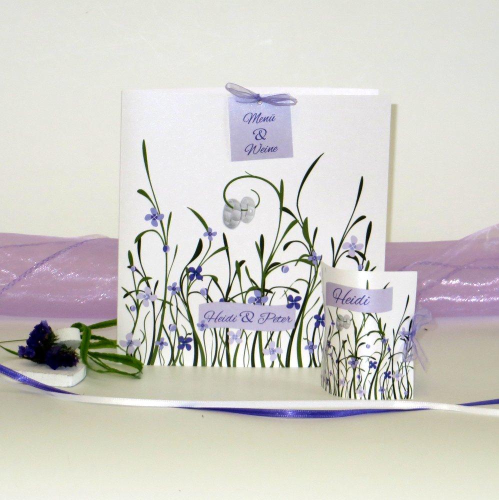 Hochzeitswiese in violett