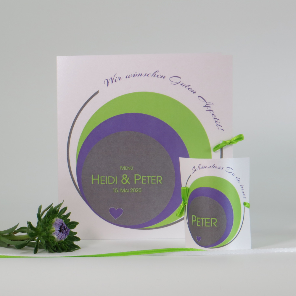 Kreise grün & lila