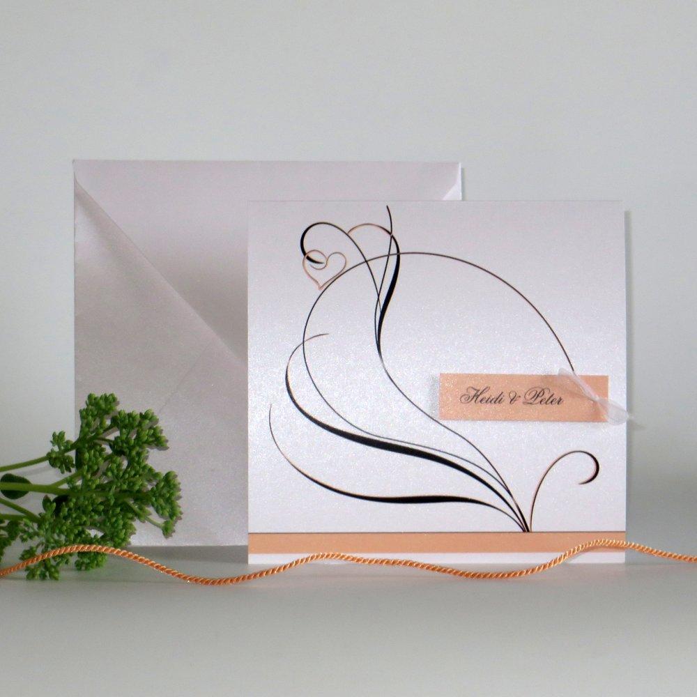 Apricot Traum Hochzeitskarten