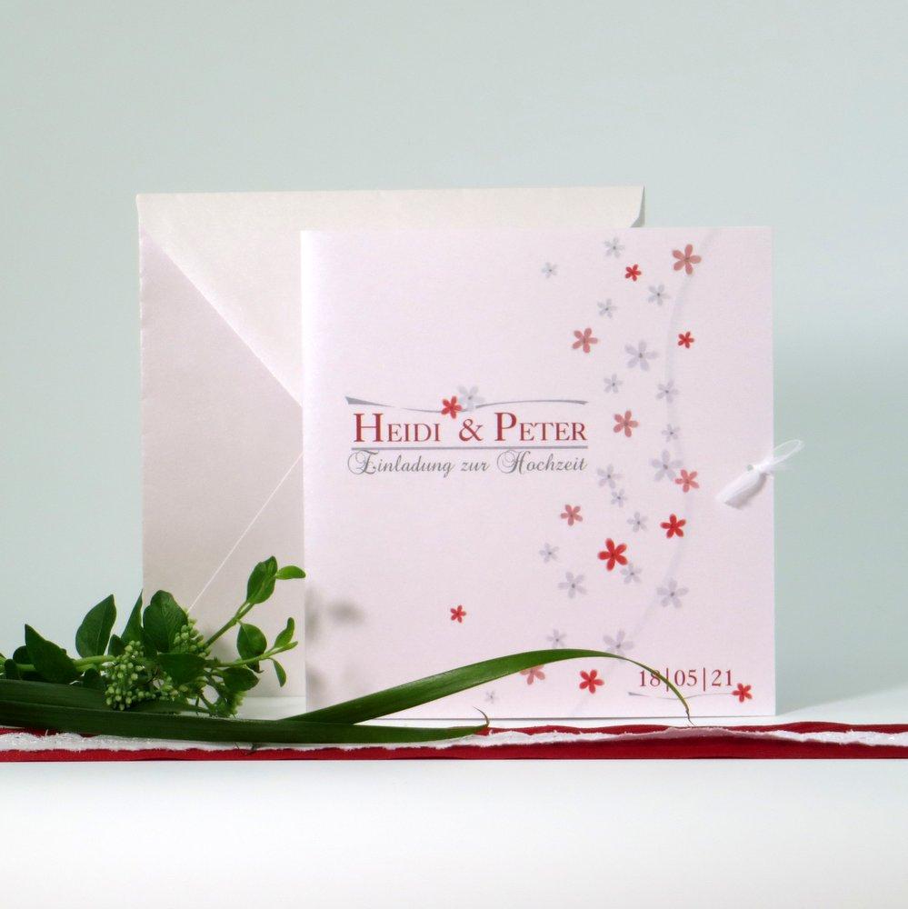 Blumenmeer rot & grau