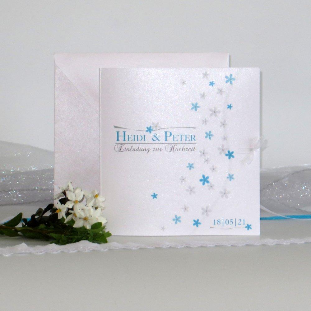 Blumenmeer türkis & grau