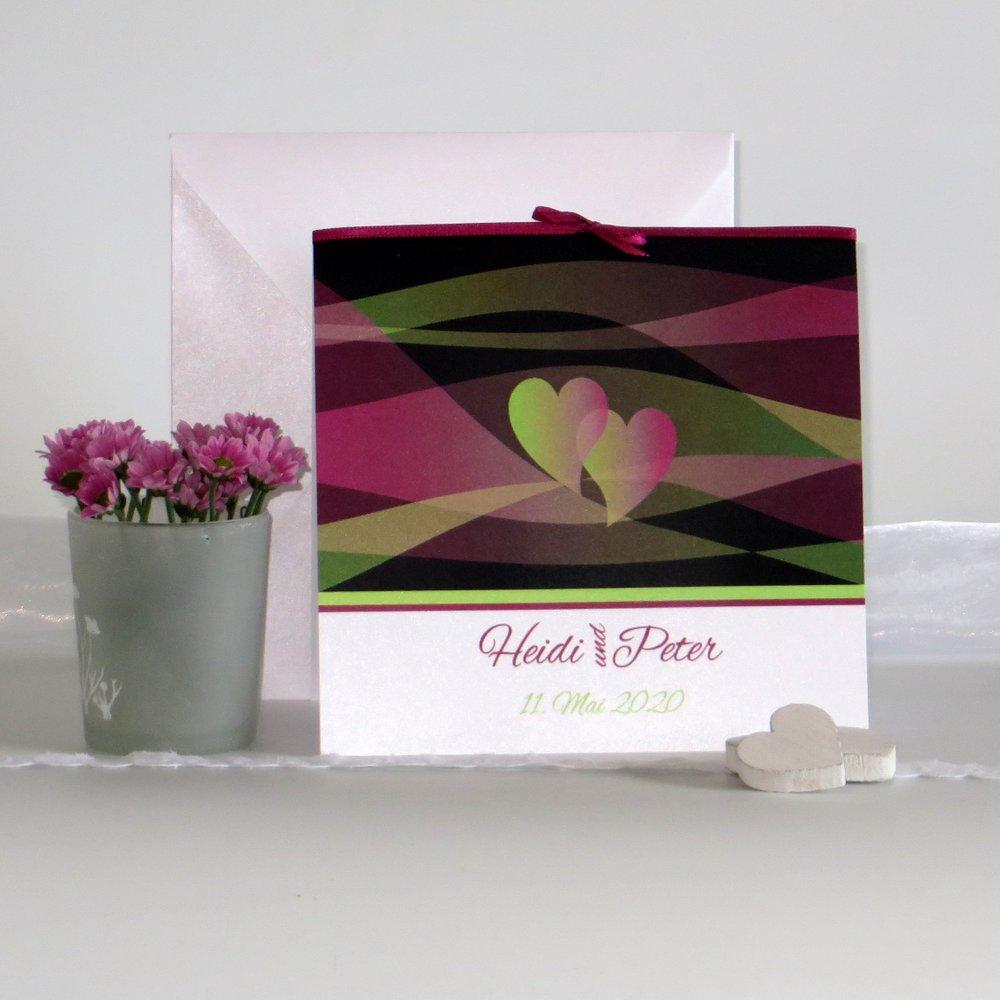 Hochzeitsset Farbenspiel pink & grün