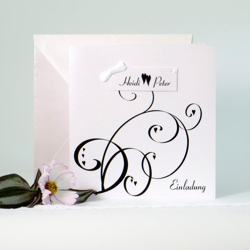 Farbflirt schwarz&weiß - Hochzeitseinladungen und mehr