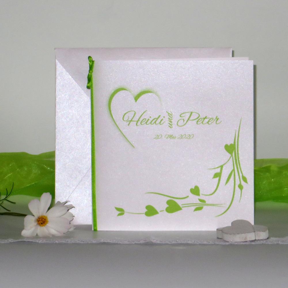 Hochzeitsherz grün