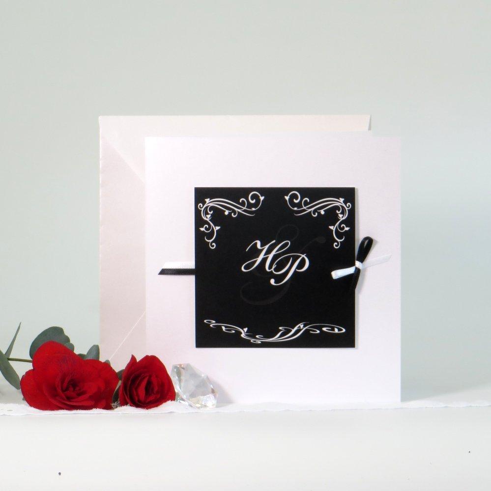 Hochzeitsinitialen schwarz&weiß