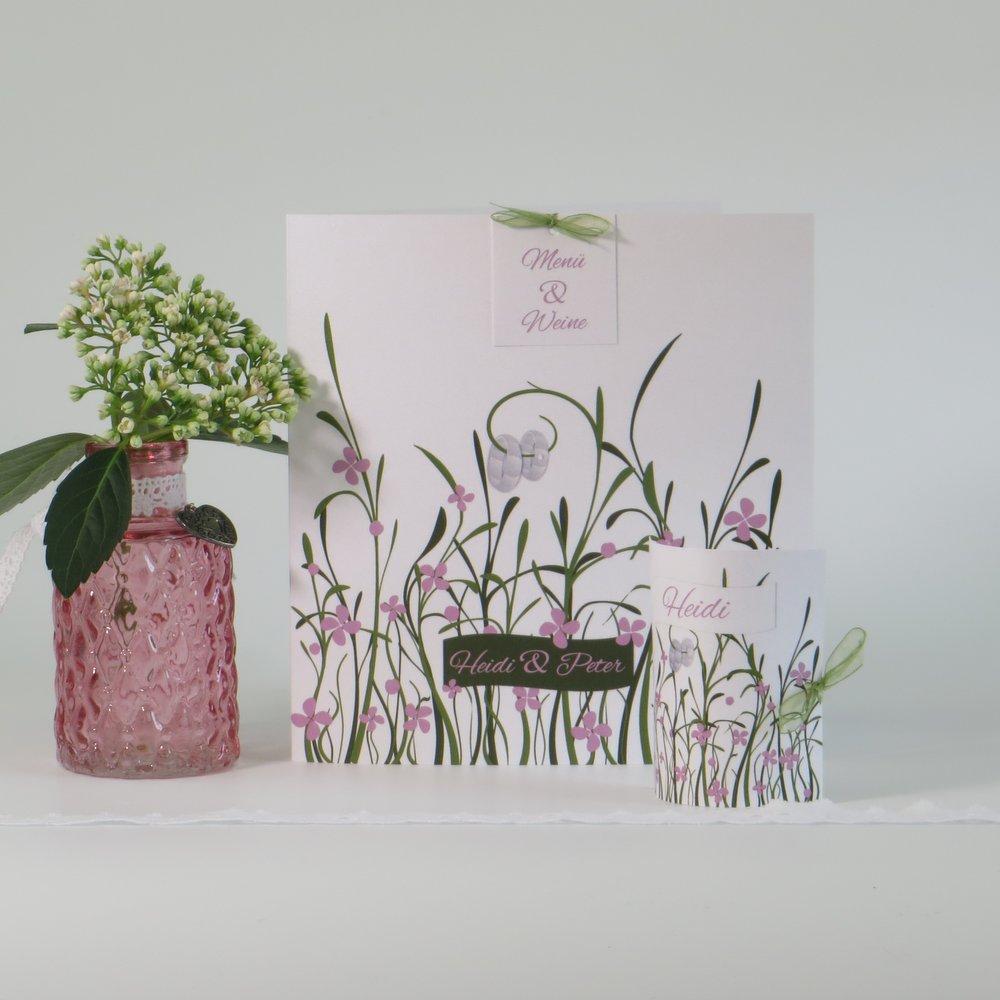 Hochzeitswiese rose & weiß