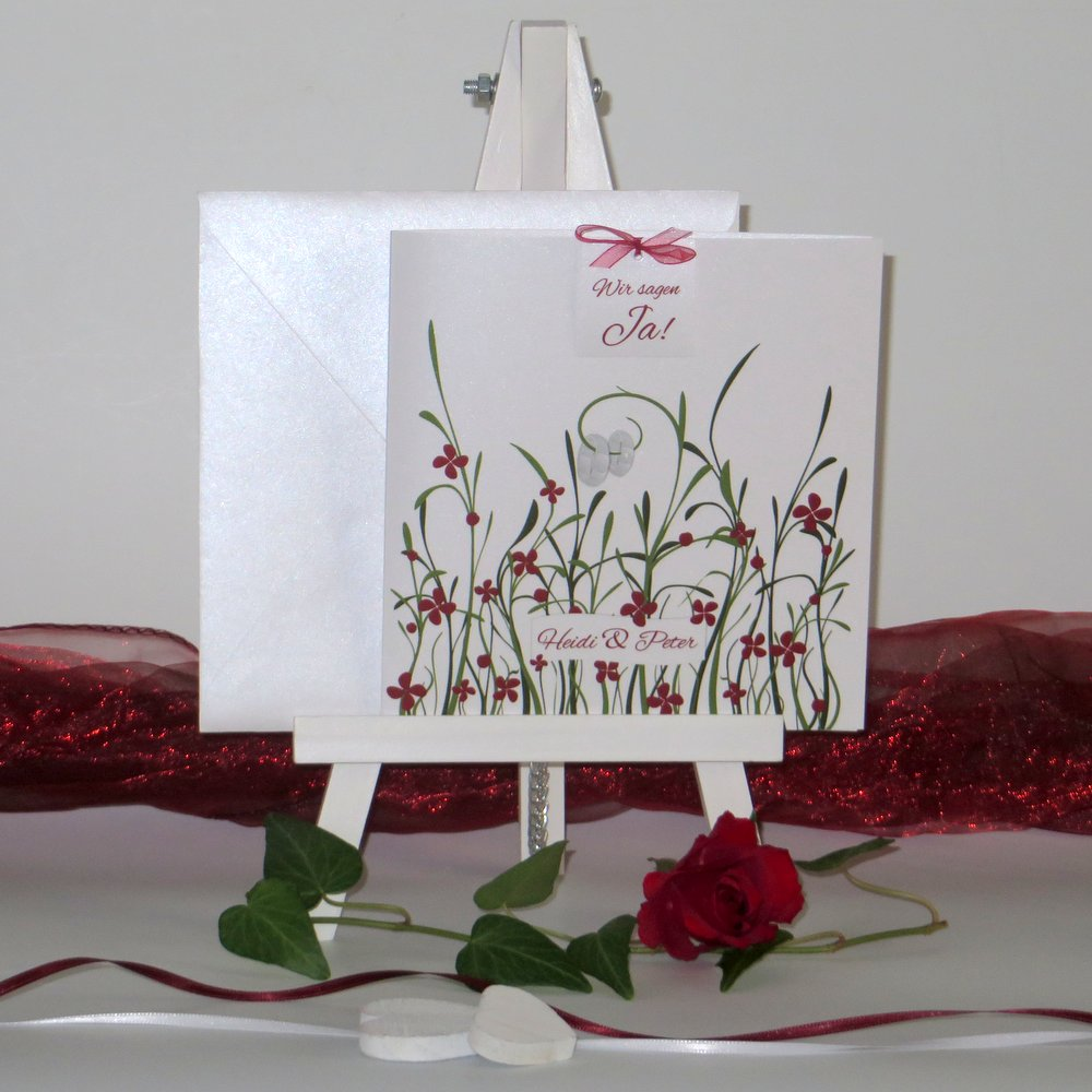 Hochzeitswiese rot & grün