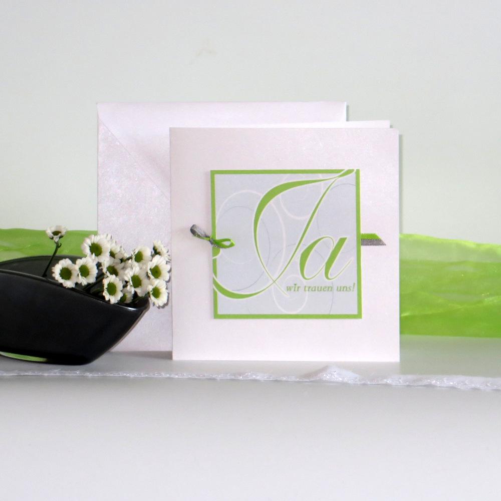 Ja-Wort grün