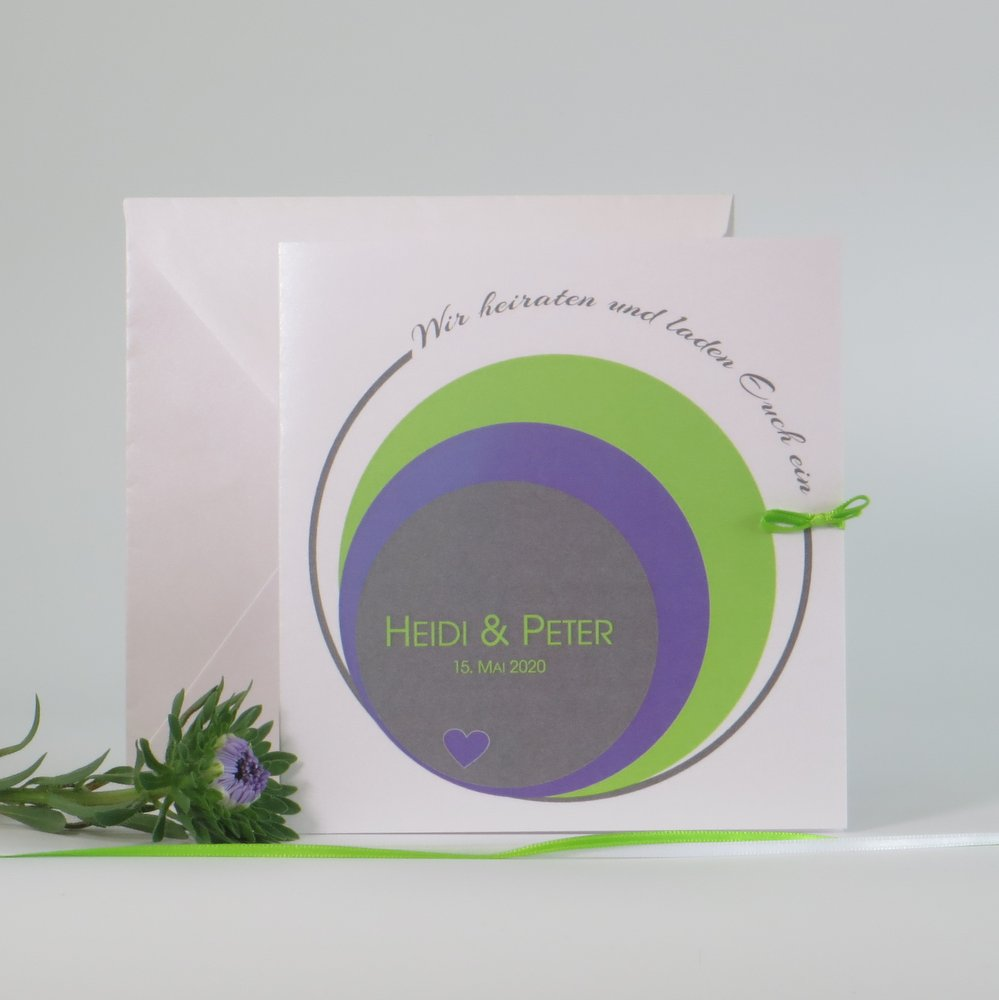 Kreise in grün & lila