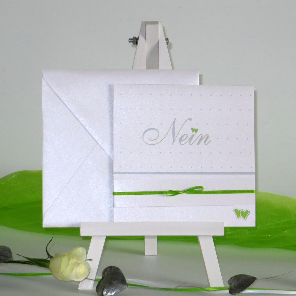 NEIN grün&weiß