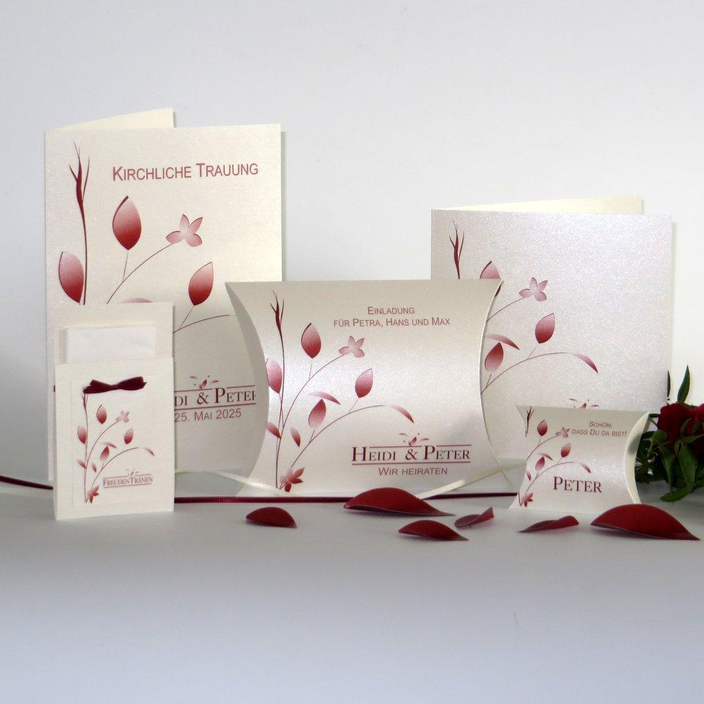 Blattwerk creme & rot