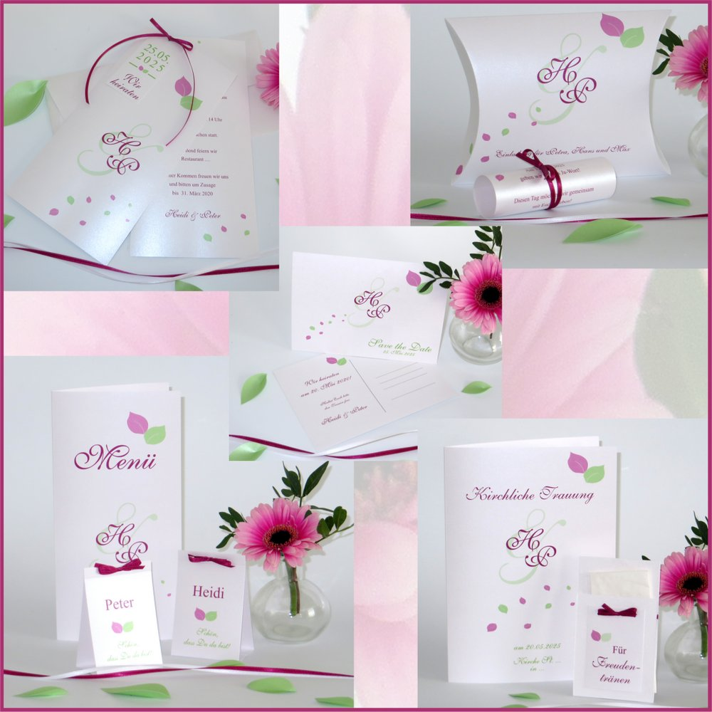 Blättertraum grün & pink