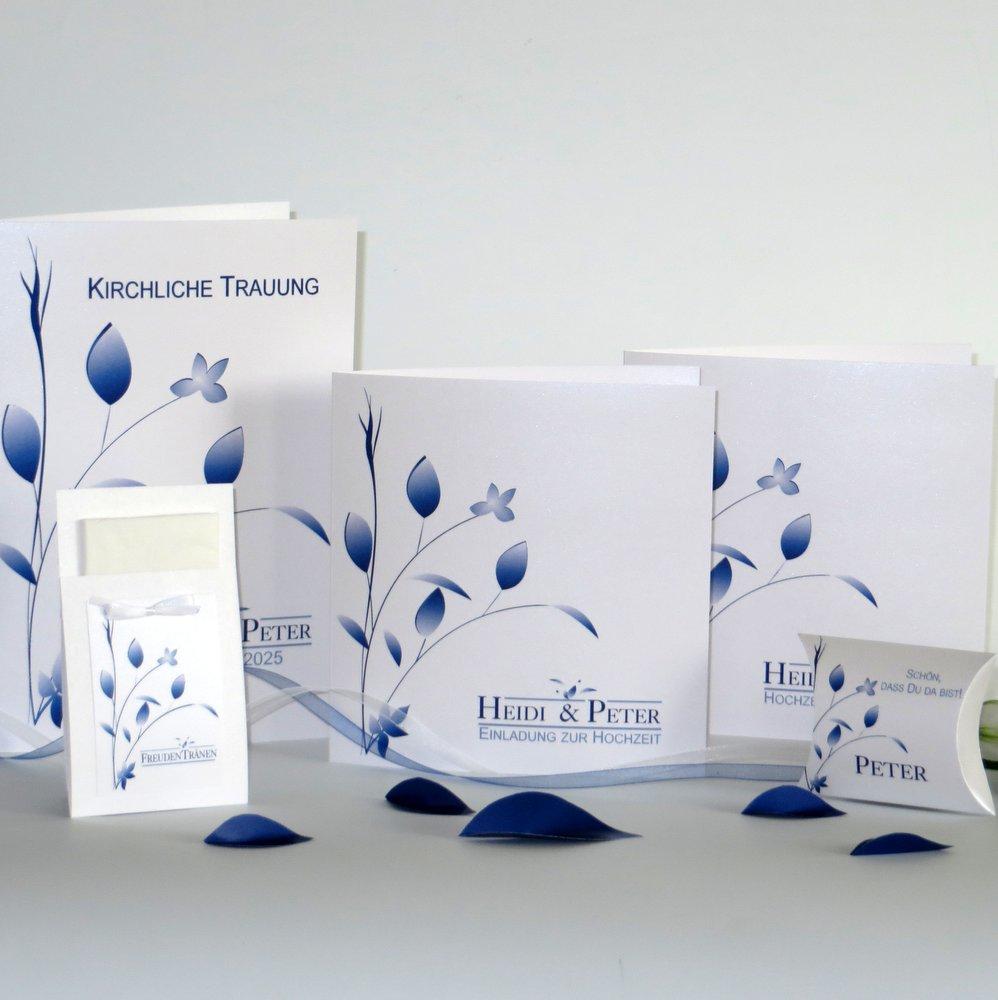 Blattwerk blau