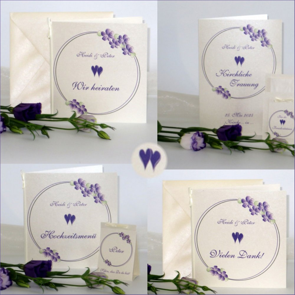 Blumenkranz in lila