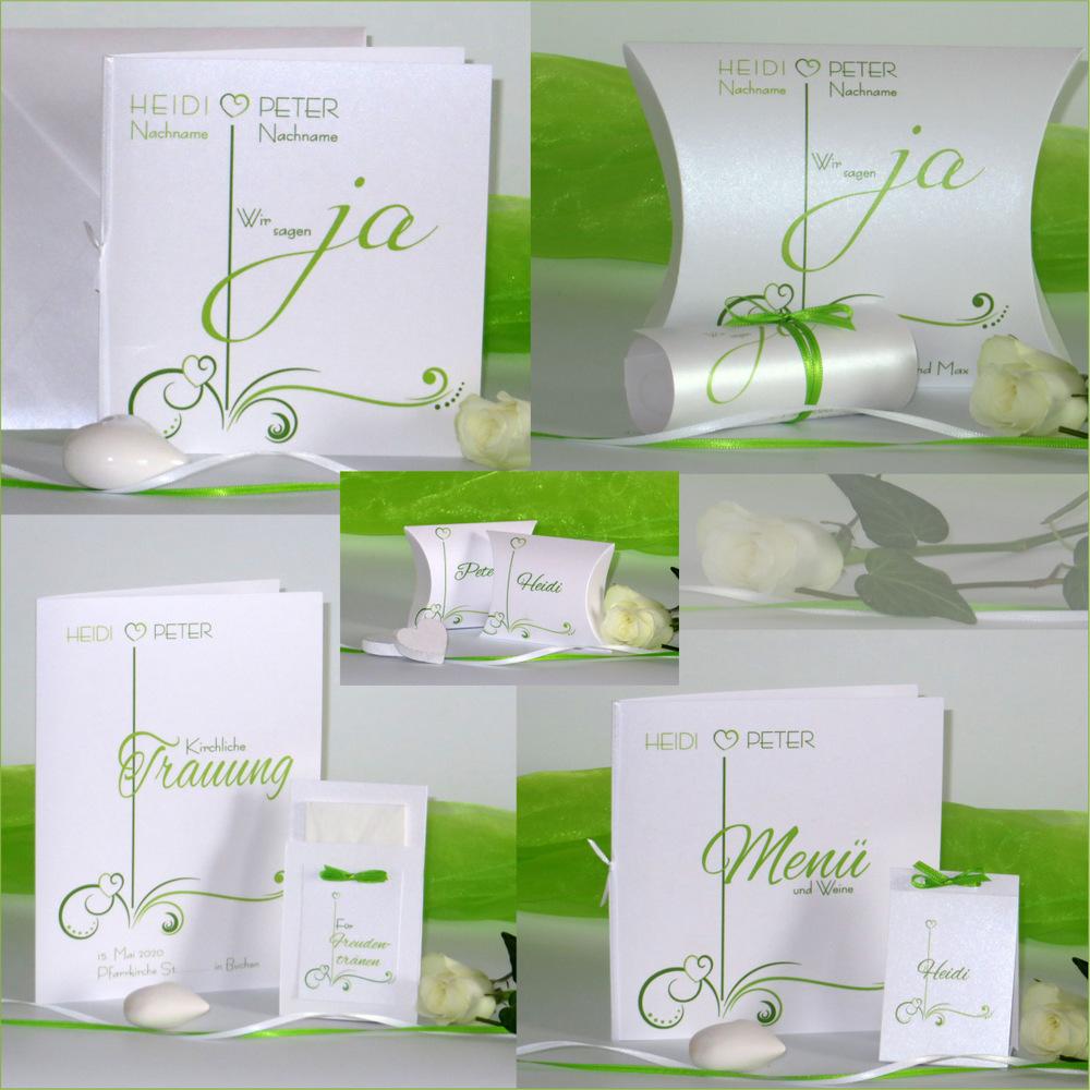 Design grün und weiß