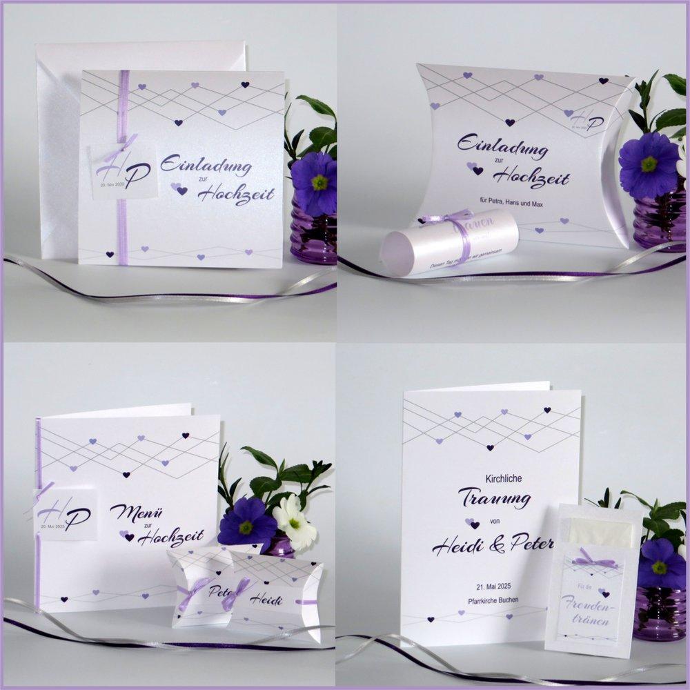 Farbherzen lila