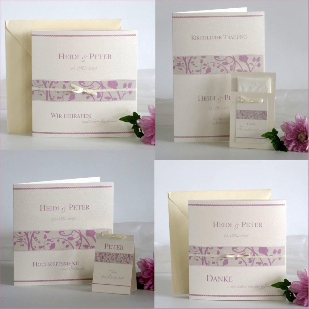 Florales Design rosa