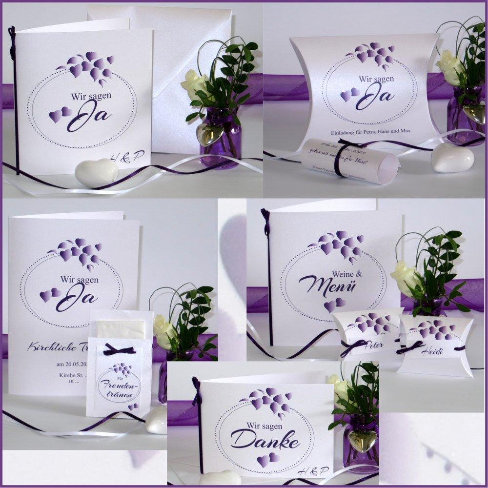Herzblatt lila