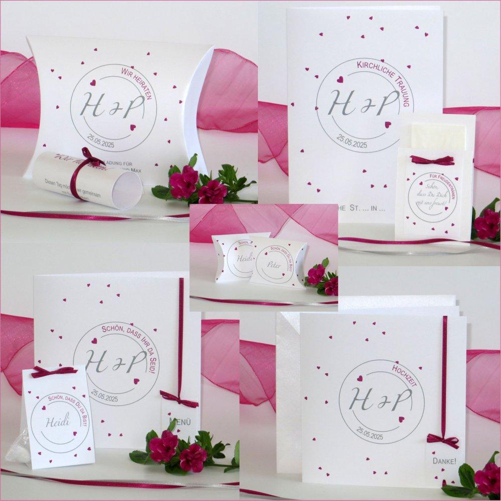 Konfetti pink & grau