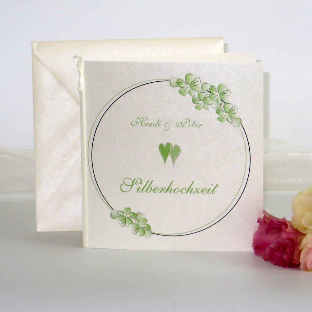 Blumenkranz grün Silberhochzeit