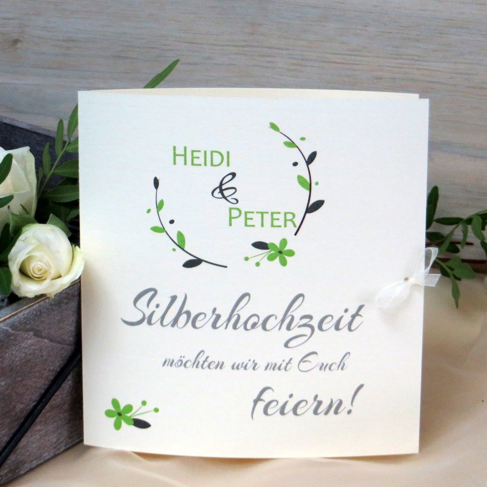 Amour grün Silberhochzeit