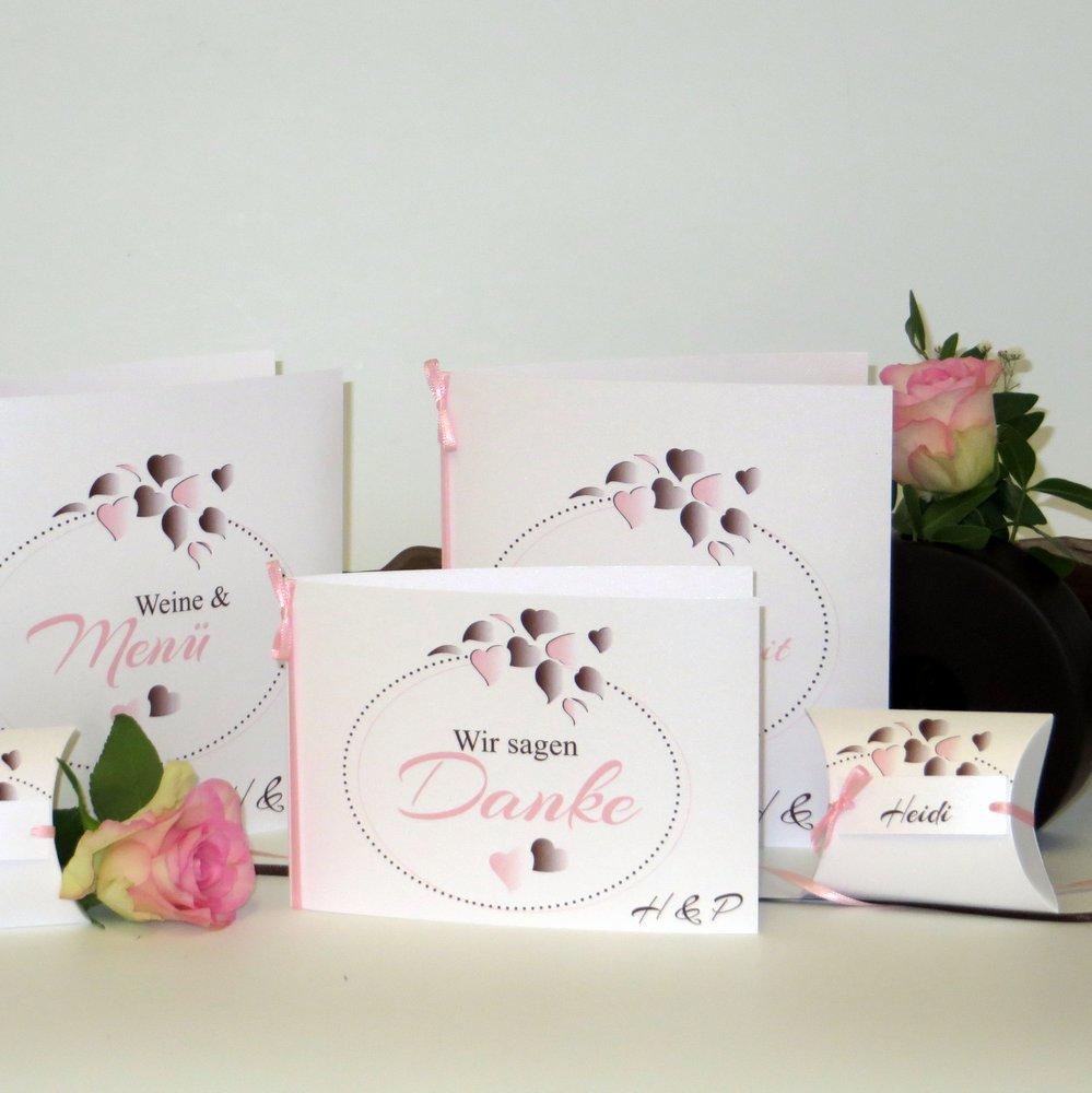 Herzblatt rosa Silberhochzeit
