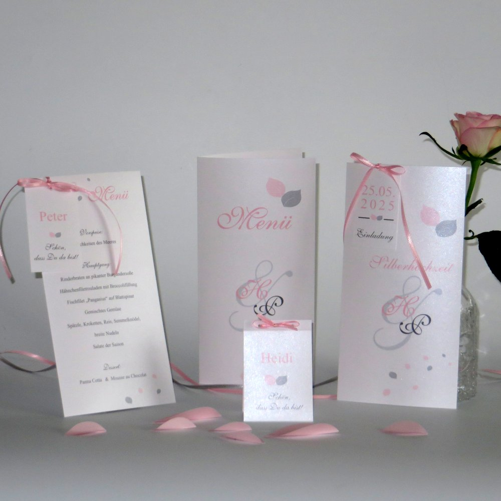 Blättertraum rosa Silberhochzeit