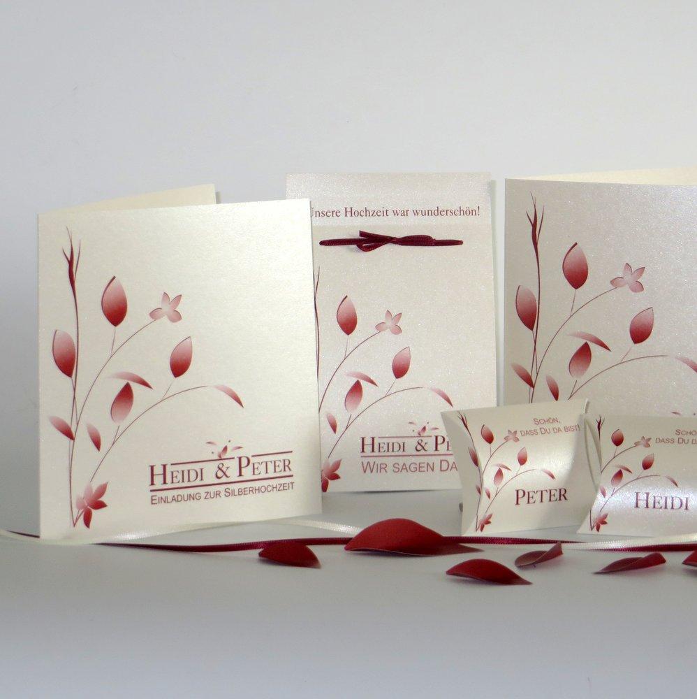 Blattwerk rot Silberhochzeit