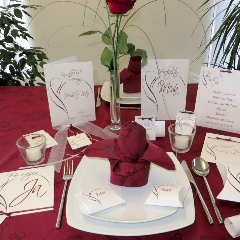 Komplettset für kleine Hochzeiten