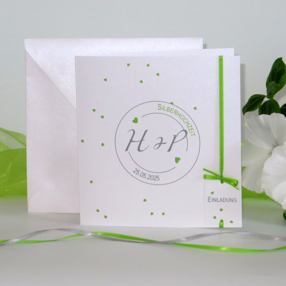 Konfetti grün Silberhochzeit
