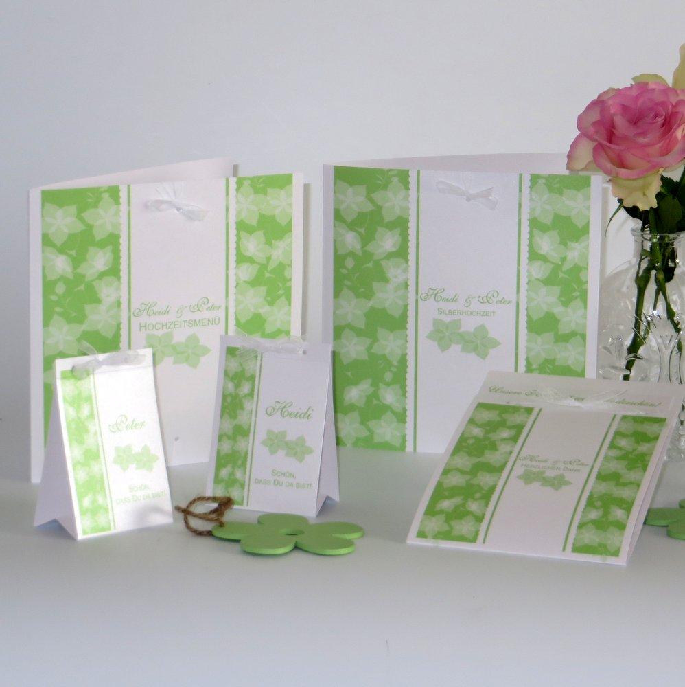 Blütentraum grün Silberhochzeit