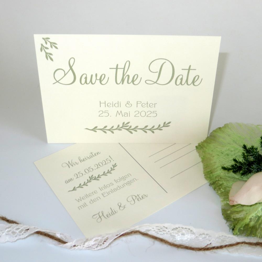 Save the Date für Ihre Hochzeit