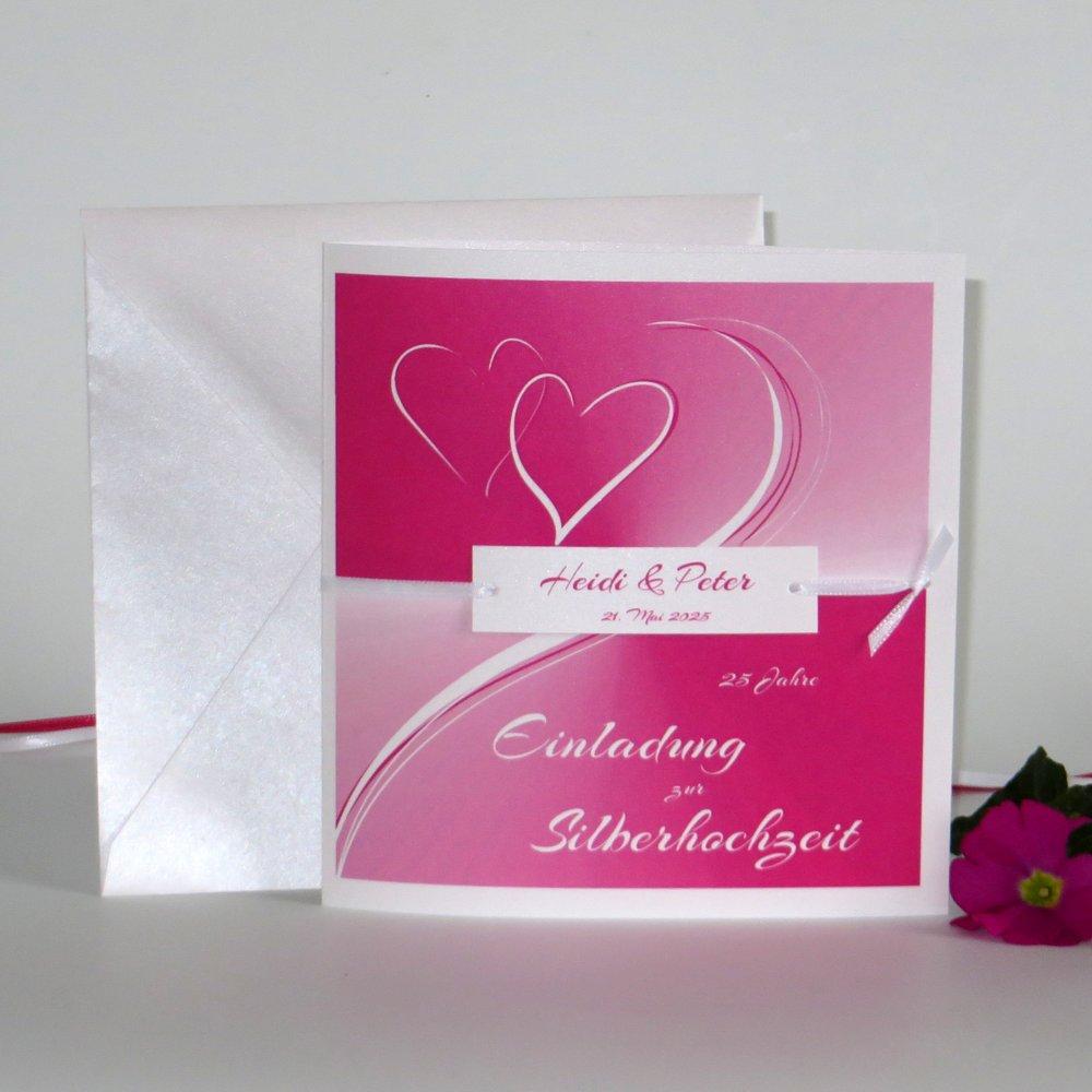Farbharmonie pink Silberhochzeit
