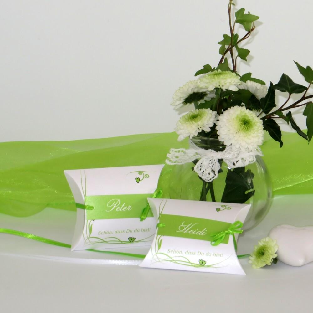 Gastgeschenke und Tischkarten