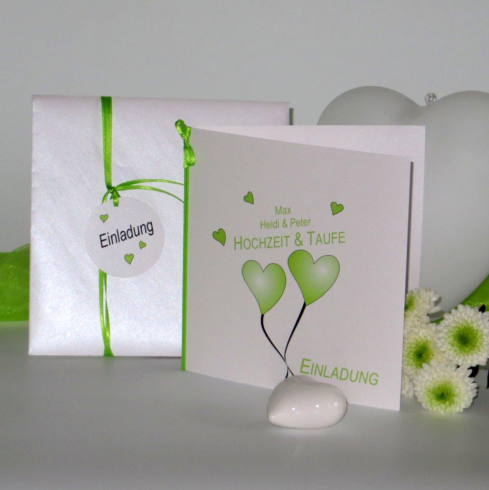 Herzballons grün Traufe