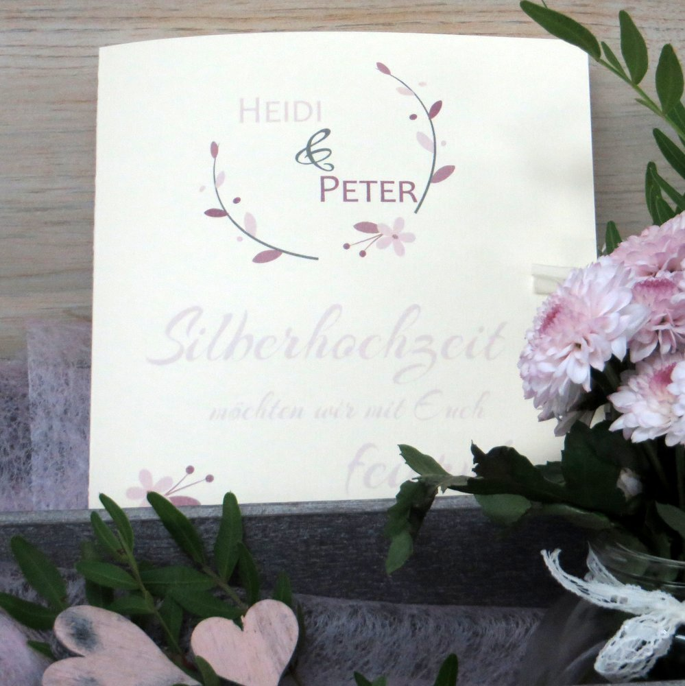 Amour rosé Silberhochzeit