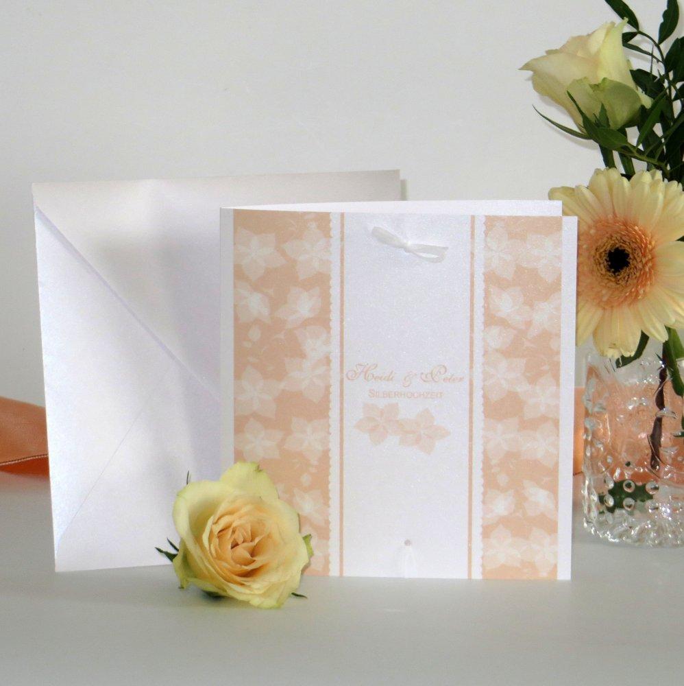 Blütentraum apricot Silberhochzeit