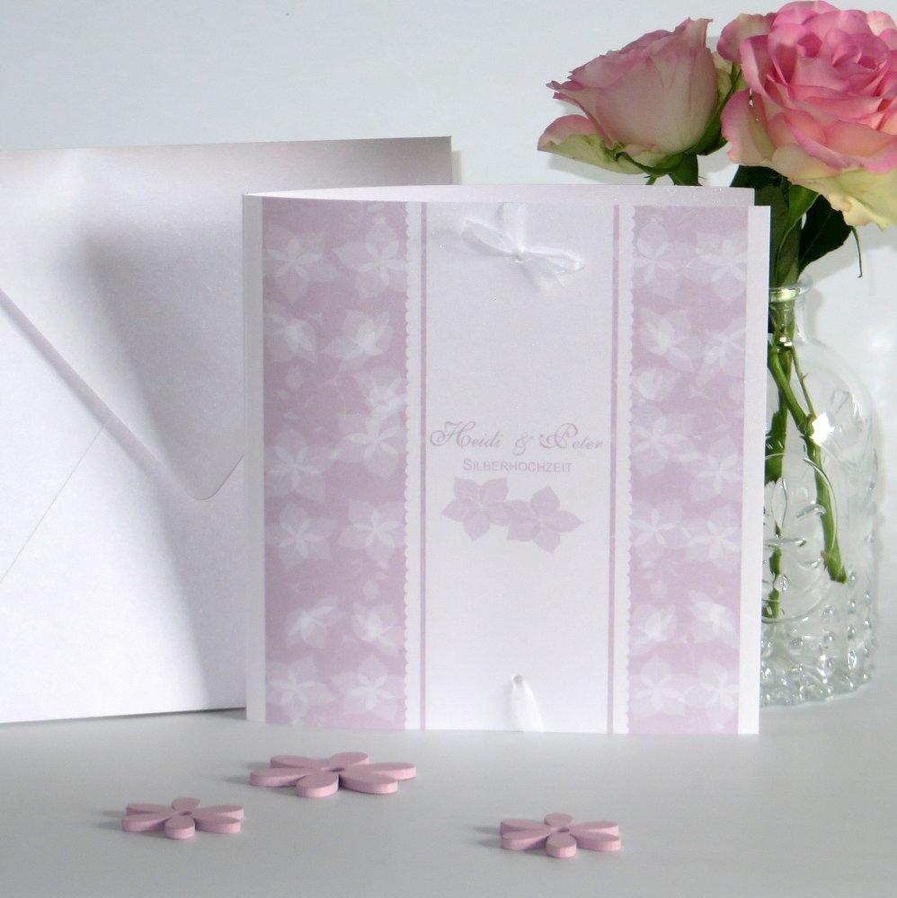 Blütentraum rosa Silberhochzeit